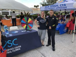 Cheif Mina and Natasha at a back to school event